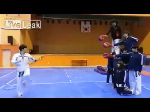 Amazing  Tae kwon do  kick