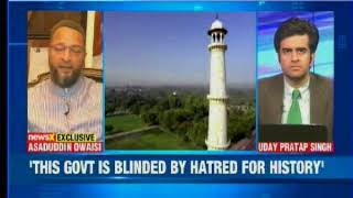 Assaduddin Owaisi launches attack on govt, asks will govt stop Taj tourism? - NEWSXLIVE