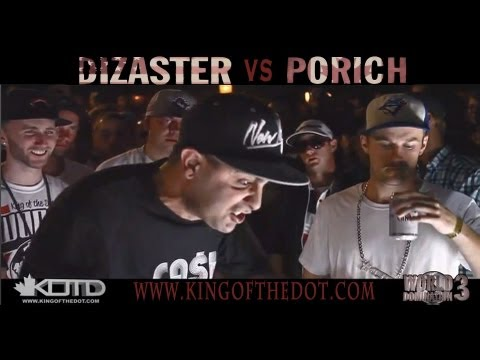 KOTD - Rap Battle - Dizaster vs poRICH (Title Match)