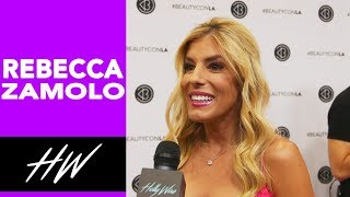 REBECCA ZAMOLO Talks Musically Family and Style Hacks at Beautycon !! - HOLLYWIRETV
