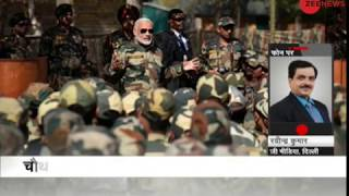 PM Modi visits Gurez, J&K to meet soldiers on Diwali   पीएम मोदी की LoC वाली दिवाली - ZEENEWS