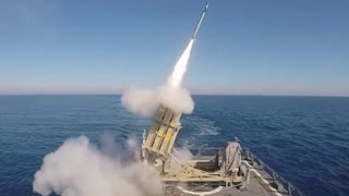 See rocket launcher intercept missile from moving ship - CNN