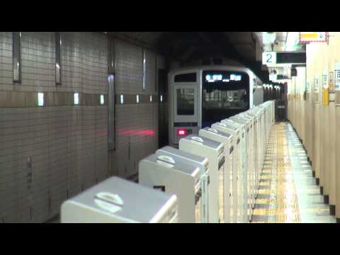 Seibu 6000 series depart from Ginza Itchome station (Japanese Train)