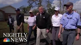 President Donald Trump Visits Florida Towns Destroyed By Hurricane Michael | NBC Nightly News - NBCNEWS