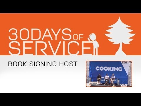 30 Days of Service by Brad Jamison: Day 21 - Book Signing Host