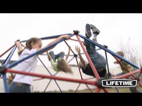 Kids Metal Dome Climber (Red and Blue)