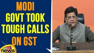 Modi govt took tough calls on GST and economic reforms, Says Piyush Goyal - MANGONEWS