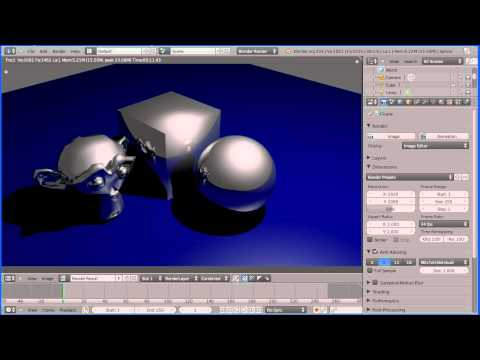 Blender Introduction to Materials - Making Shiny Reflective Metals, Steel and Gold Part 2