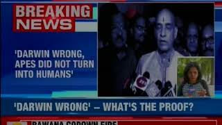 Charles Darwin is wrong; nobody saw an ape turn into human: Minister Satyapal Singh - NEWSXLIVE