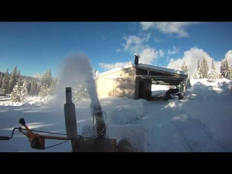 Gilson Cub Cadet Blowing Snow Bonus Footage