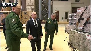 RAW: Putin checks out weaponry seized from Syrian militants - RUSSIATODAY