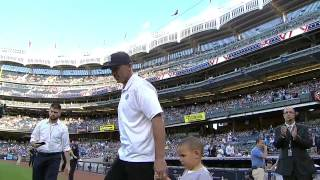 Jason Kidd Throws Out First Pitch Strike At Yankees Game
