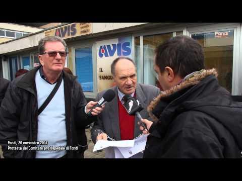 Comitato Pro Ospedale di Fondi. Protesta del 26 11 2014