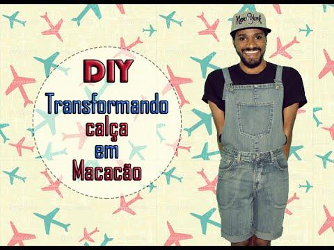 DIY - Transformando calça em Macacão/Jardineira