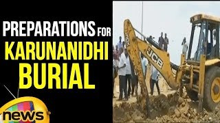 Preparations For Karunanidhi Burial In Marina Beach | Last Rites Of Karunanidhi | Mango News - MANGONEWS