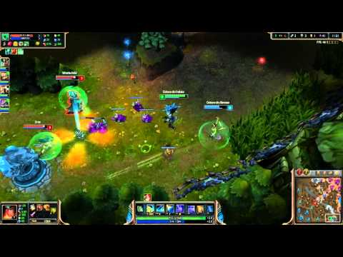 League of Legends gameplay - Bot Lane da Zoera