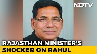 Rajasthan Minister Targets Rahul Gandhi, Alleages Terror Slur - NDTV