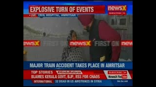Amritsar train accident: Navjot Singh Sidhu visits injured in the hospital - NEWSXLIVE