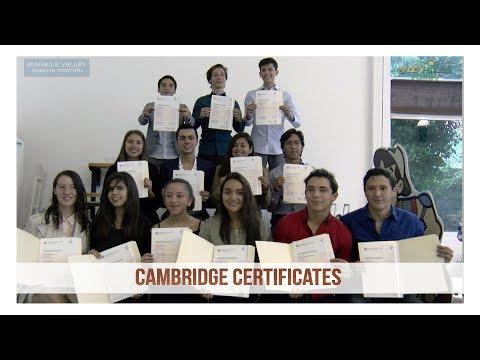 Cambridge Certificates 2017
