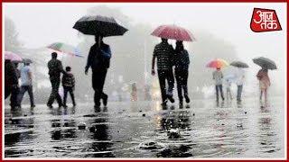 हिमाचल में पिछले 36 घंटे से लगातार बारिश, पारा लुढ़का - AAJTAKTV