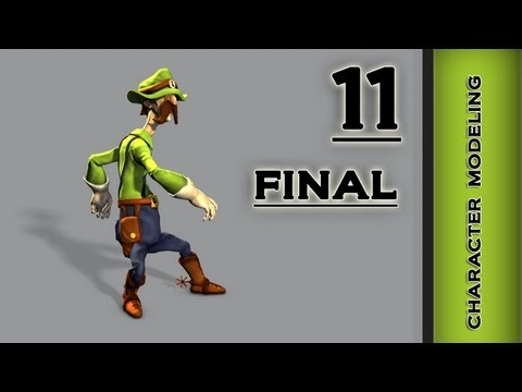 Autodesk Maya 2013 Tutorial - Character Modeling - Final Part 11