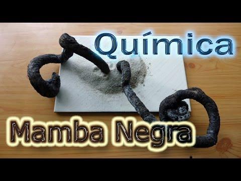Química: La Mamba Negra (Experimentos de Química Caseros)
