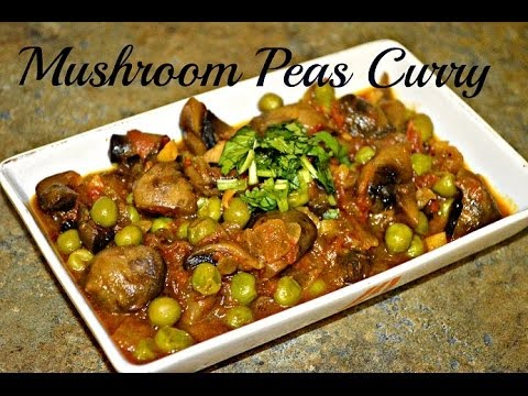 Matar mushroom curry recipe video by Chawla's Kitchen