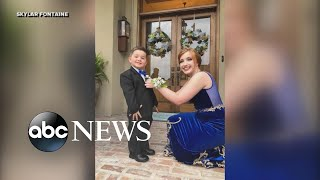 Toddler stands in for his Marine brother in prom photos - ABCNEWS
