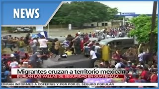 Migrant caravan bound for the US break through Mexico border - THESUNNEWSPAPER