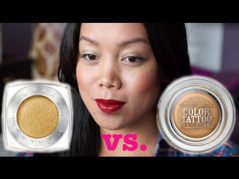 Maybelline Color Tattoo Vs. Loreal Infallible Eyeshadow first impression/ review - itsJudytime
