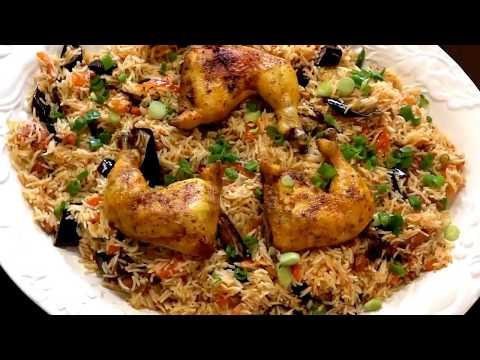 Rice with Eggplant رز بالباذنجان/ تمن باذنجان