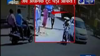 अहमदाबाद में बुजुर्ग दंपति पर गिरा खंभा दूसरी और ऑटो से भिड़ी स्कॉर्पियो | Suno India - ITVNEWSINDIA