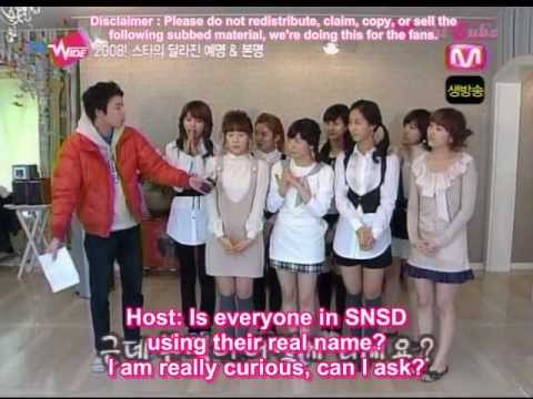 [Eng Subs] Mnet Dr.Wide - SNSD's Real Name [01.17.08]