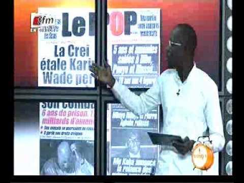seneweb.com/ Revue De Presse Mamadou Mouhamet Ndiaye De ce Mardi 24