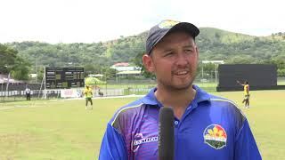 ICC Men's T20 World Cup Global Qualifier- Interview -Jonathan Hill - Philippines v PNG - CRICKETWORLDMEDIA