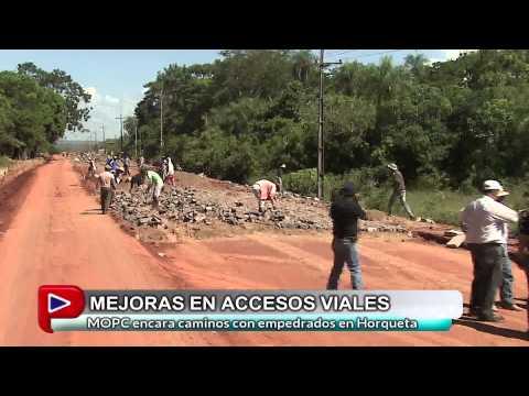 EMPEDRADO HORQUETA: MEJORAS EN ACCESOS VIALES