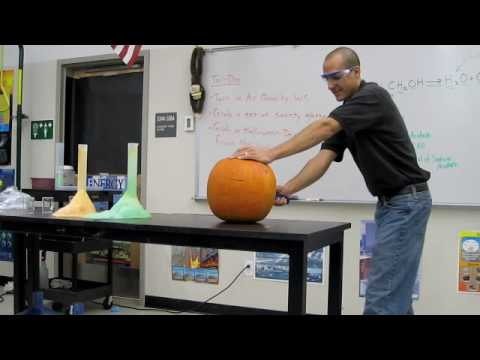 Exploding Pumpkin- Halloween Science Chemistry Demos!