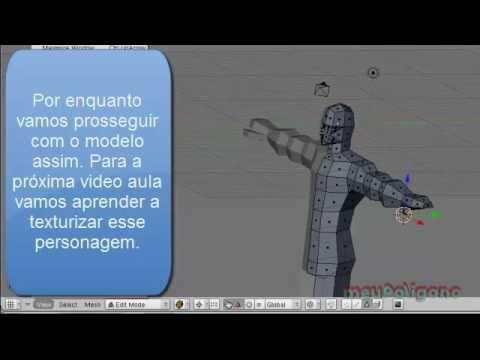 Video Aula: Blender - Modelando Personagem para Jogos - Parte 2