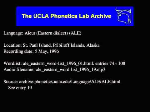 Aleut audio: ale_eastern_word-list_1996_19