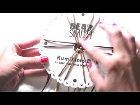 Beading Tutorials - How to use Kumihimo Disk for braiding bracelets
