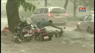 హైదరాబాద్ లో భారీ వర్షం : Heavy Rainfall at Film Nagar | Hyderabad | CVR News - CVRNEWSOFFICIAL