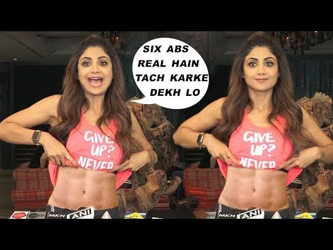 Shilpa Shetty Her Amazing Six Pack Abs While Talking About Her Yogaa App on Yogaa Day