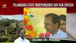Telangana CM KCR Independence Day Full Speech At Golkonda Fort | 71st Independence Day | Mango News - MANGONEWS