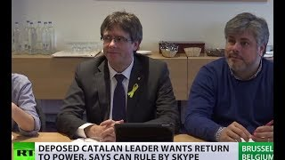 Puigdemont wants to run Catalonia via Skype - RUSSIATODAY