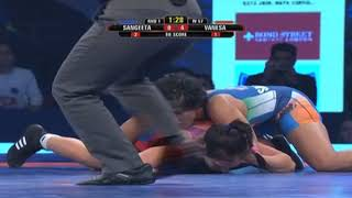 PWL 3 Day 7: Sangeeta Phogat Vs Vanesa Kaladzinskaya at Pro Wrestling League 2018 | Highlights - ITVNEWSINDIA