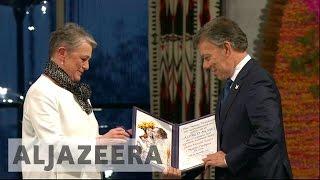 Colombia's president receives Nobel Peace Prize - ALJAZEERAENGLISH