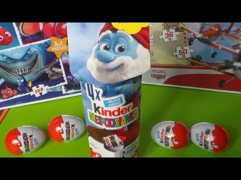 Smurfs 2 Kinder Surprise Eggs Unboxing  , Die Schlümpfe , Kinder surprise , toys  , smerfy 2
