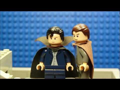 LEGO SHERLOCK BBC - REICHENBACH FALL ( ROOFTOP SCENE )