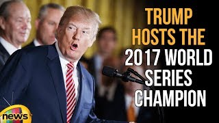 President Trump Hosts the 2017 World Series Champion Houston Astros | Mango News - MANGONEWS