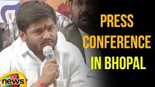 Hardik Patel Press Conference in Bhopal, Madhya Pradesh | Mango News - MANGONEWS